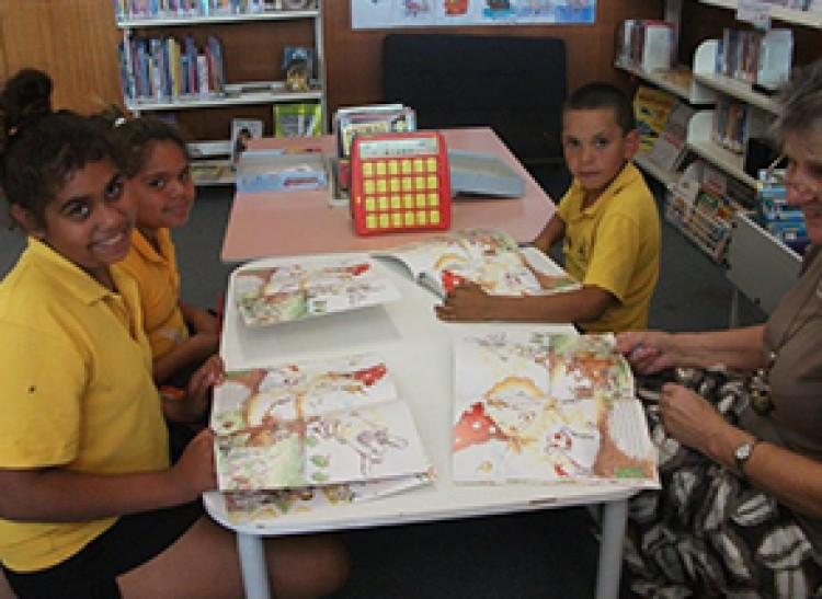 After school reading club at Cunnumulla Library, QLD