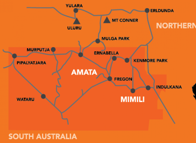 Apy Lands Map ILF visits APY lands for the first time | Indigenous Literacy  Apy Lands Map