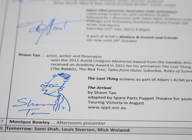 Auction of Celebrity Autographs